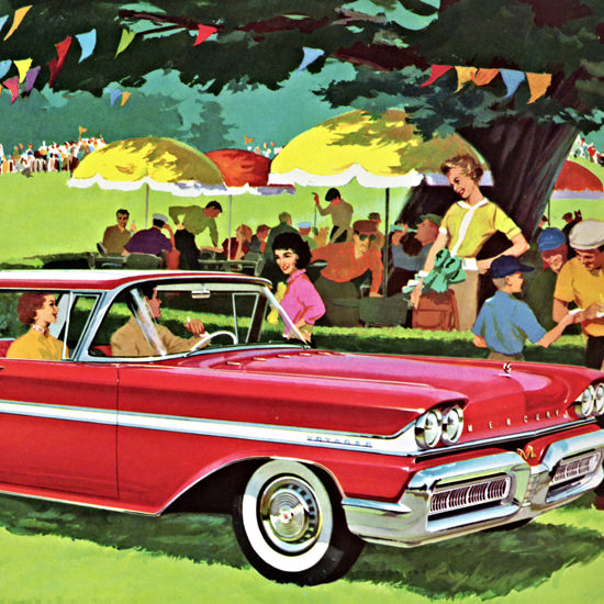 Detail Of Mercury Station Wagons 1958 With Spirit | Best of Vintage Ad Art 1891-1970