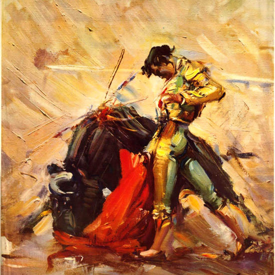 Detail Of Mexico 1960s Torero | Best of Vintage Ad Art 1891-1970