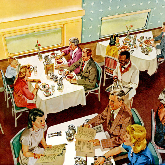 Detail Of Milwaukee Road Speedliners Olymian Hiawathas | Best of Vintage Ad Art 1891-1970
