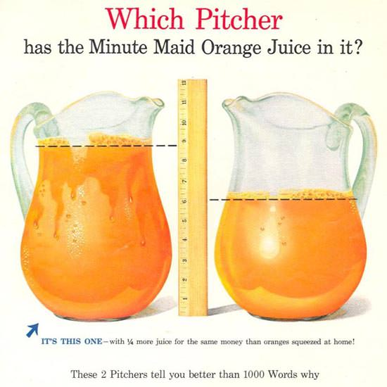 Detail Of Minute Maid 1955 Fresh Frozen Orange Juice | Best of Vintage Ad Art 1891-1970