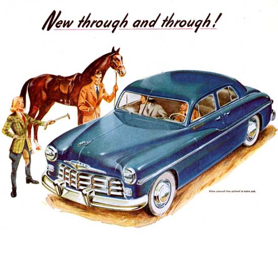 Detail Of Monarch 1949 Blue Ride Like A King | Best of 1940s Ad and Cover Art