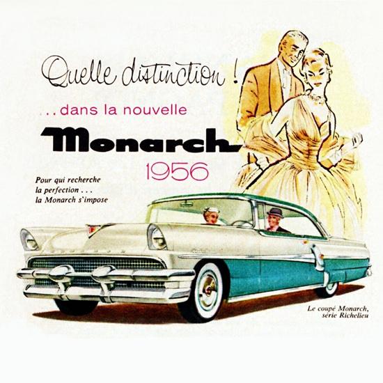 Detail Of Monarch Richelieu Coupe 1956 Distinction | Best of Vintage Ad Art 1891-1970