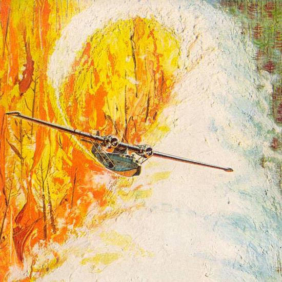 Detail Of Monsanto Chemicals Fights Fires 1963   Best of Vintage Ad Art 1891-1970