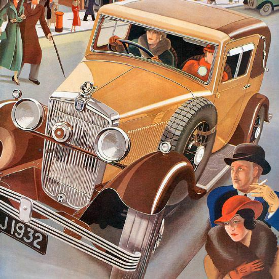 Detail Of Morris Major 6 Model 1932 | Best of Vintage Ad Art 1891-1970