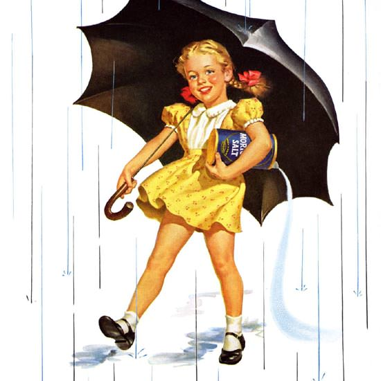 Detail Of Morton Salt 1952 When It Rains | Best of Vintage Ad Art 1891-1970
