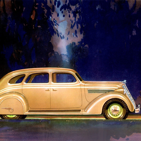 Detail Of Nash 400 Sedan 1935 Gold | Best of Vintage Ad Art 1891-1970