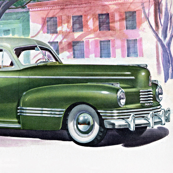 Detail Of Nash Ambassador De Luxe Slipstream 1942 | Best of Vintage Ad Art 1891-1970
