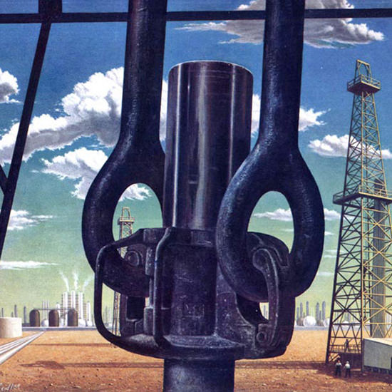 Detail Of National City Bank Of New York Petroleum 1951 | Best of Vintage Ad Art 1891-1970