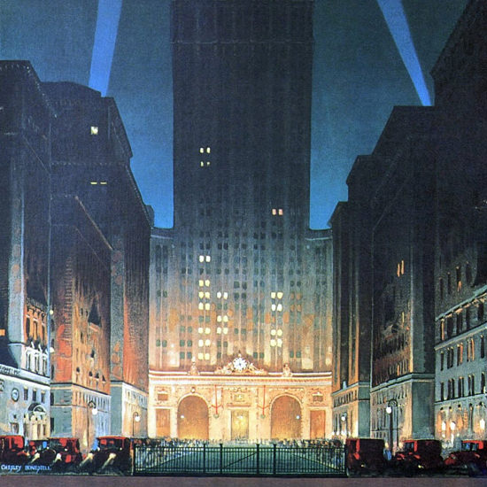 Detail Of New York Central Building Park Avenue 1930 B | Best of 1930s Ad and Cover Art