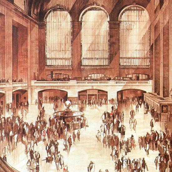 Detail Of New York Central Lines Central Terminal 1927 | Best of 1920s Ad and Cover Art