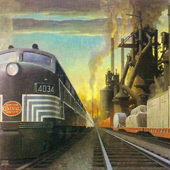 Detail Of New York Central System 1951 Locomotives | Best of Vintage Ad Art 1891-1970