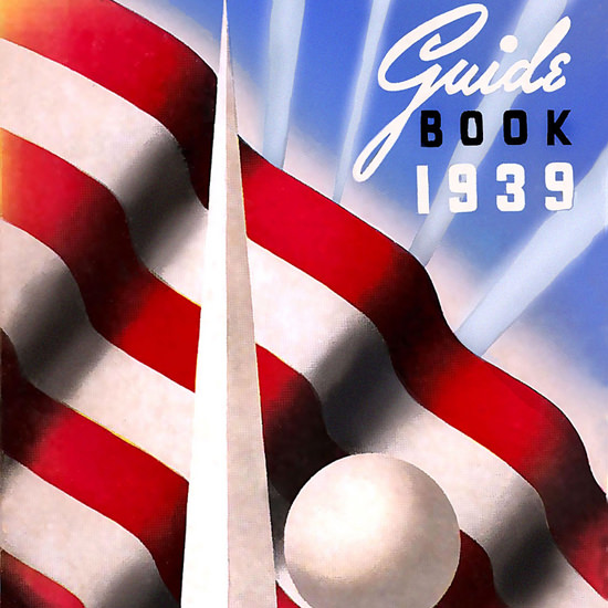 Detail Of New York Worlds Fair 1939 Official Guide Book | Best of 1930s Ad and Cover Art