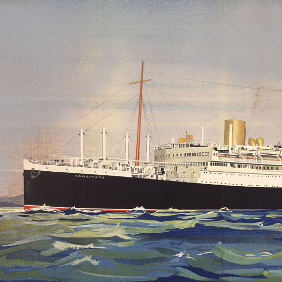 Detail Of New Zealand Line New Zealand Shipping Co 1940 | Best of 1940s Ad and Cover Art