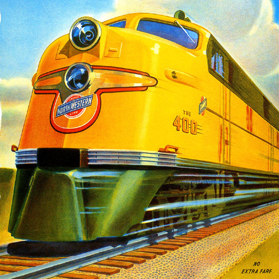 Detail Of North Western Line 400 Fleet Chicago | Best of Vintage Ad Art 1891-1970