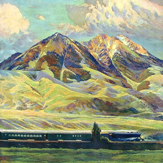 Detail Of Northern Pacific Montana 1920s | Best of Vintage Ad Art 1891-1970