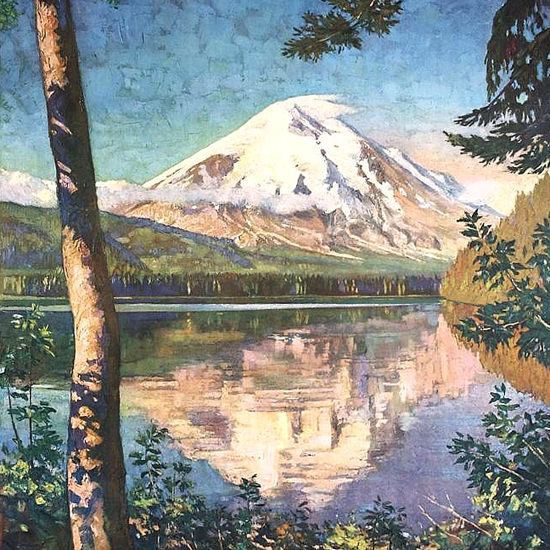 Detail Of Northern Pacific Mount St Helens 1920s | Best of Vintage Ad Art 1891-1970
