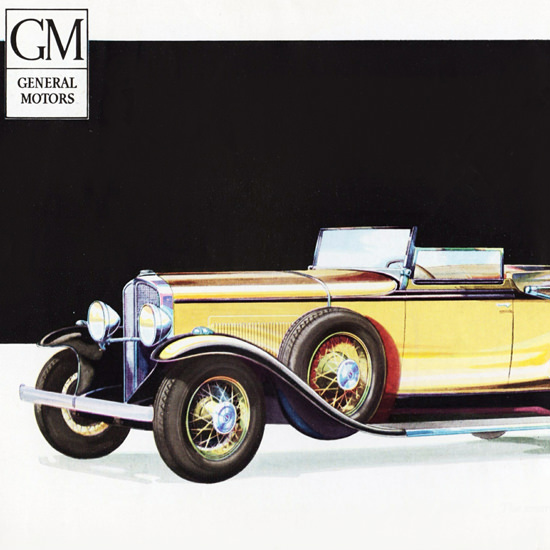 Detail Of Oakland Convertible Coupe 1931 Smart | Best of Vintage Ad Art 1891-1970