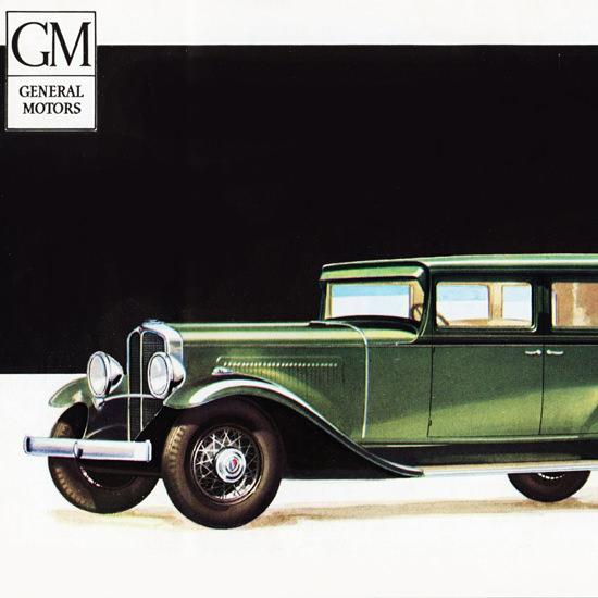 Detail Of Oakland Custom Sedan 1931 Richly Styled | Best of Vintage Ad Art 1891-1970