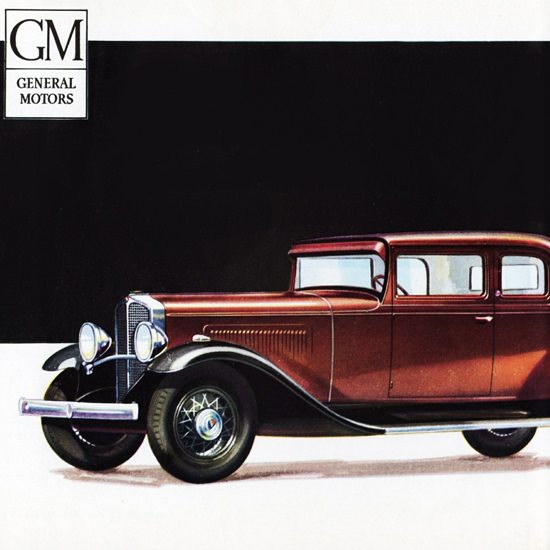 Detail Of Oakland Sport Coupe 1931 The Beautiful   Best of Vintage Ad Art 1891-1970