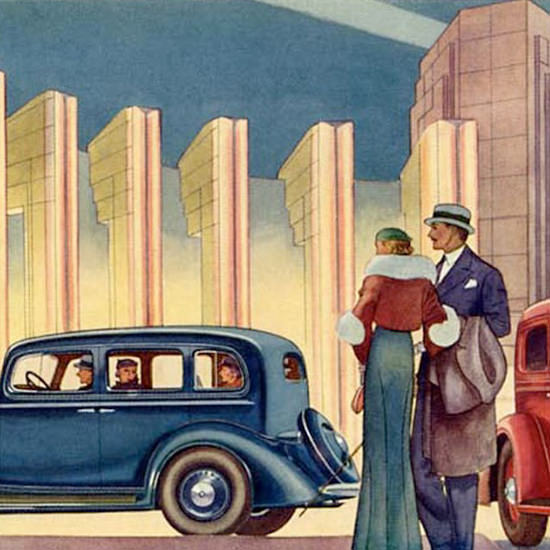 Detail Of Oldsmobile 1933 Century Of Progress | Best of Vintage Ad Art 1891-1970