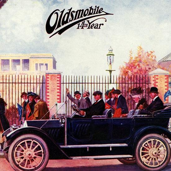 Detail Of Oldsmobile Autocrat Touring 1912 Lansing | Best of Vintage Ad Art 1891-1970