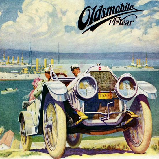 Detail Of Oldsmobile Defender 1912 Lansing | Best of Vintage Ad Art 1891-1970