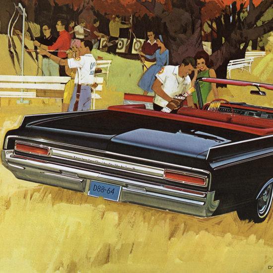 Detail Of Oldsmobile Dynamic 88 Convertible 1964 Arrow | Best of Vintage Ad Art 1891-1970
