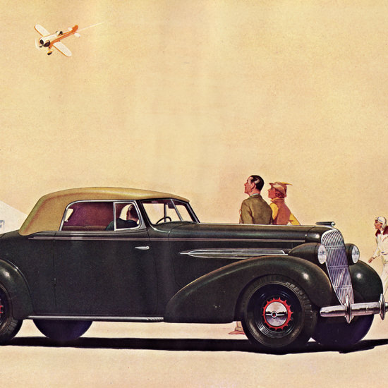 Detail Of Oldsmobile Eight Convertible Coupe 1935 | Best of Vintage Ad Art 1891-1970
