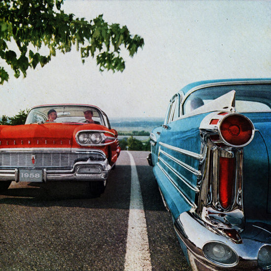 Detail Of Oldsmobile Models 1958 In To The Rocket Age   Best of Vintage Ad Art 1891-1970