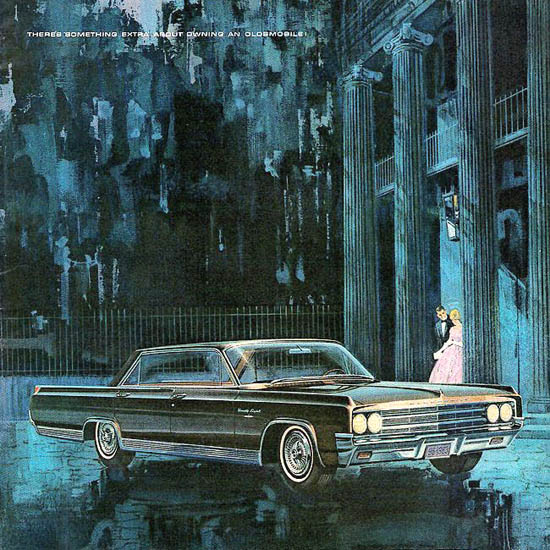 Detail Of Oldsmobile Ninety-Eight Luxery 1963 | Best of Vintage Ad Art 1891-1970
