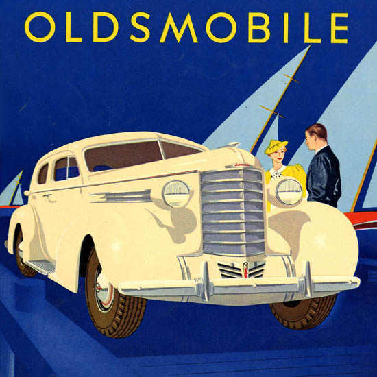 Detail Of Oldsmobile Six 1937 | Best of 1930s Ad and Cover Art