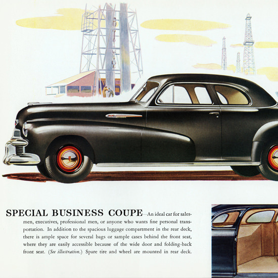 Detail Of Oldsmobile Special Business Coupe 1942 Oil | Best of Vintage Ad Art 1891-1970