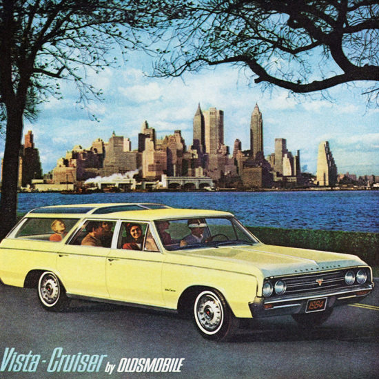 Detail Of Oldsmobile Vista 1964 New York Worlds Fair | Best of Vintage Ad Art 1891-1970