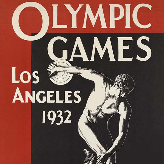Detail Of Olympic Games Los Angeles 1932 Union Pacific | Best of Vintage Ad Art 1891-1970