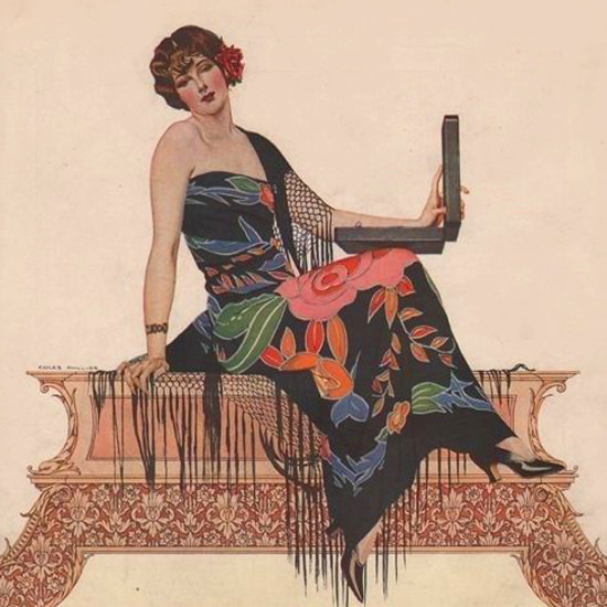 Detail Of Oneida Community Plate Love Me 1925 Coles Phillips | Best of 1920s Ad and Cover Art
