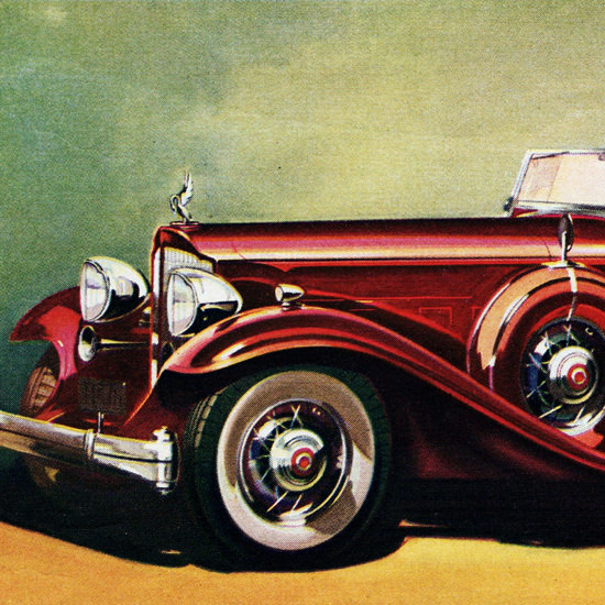 Detail Of Packard 160 HP Twin Six Phaeton 1932 | Best of Vintage Ad Art 1891-1970