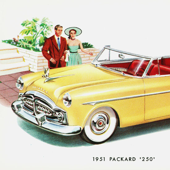Detail Of Packard 250 Convertible 1951 B | Best of Vintage Ad Art 1891-1970