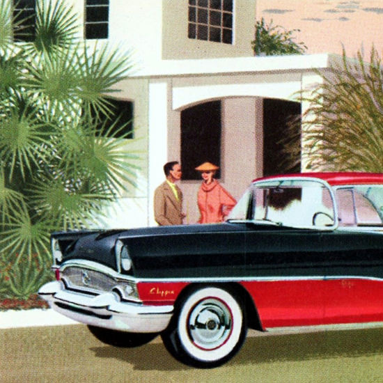 Detail Of Packard Clipper Panama 1955 Camelback Inn | Best of Vintage Ad Art 1891-1970