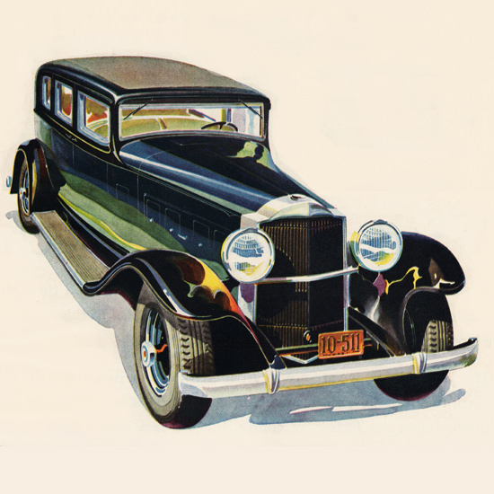 Detail Of Packard Eight 1931 Ask The Man Who Owns One | Best of Vintage Ad Art 1891-1970