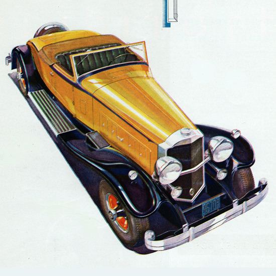 Detail Of Packard Eight DeLuxe Coupe Roadster 1931 | Best of Vintage Ad Art 1891-1970