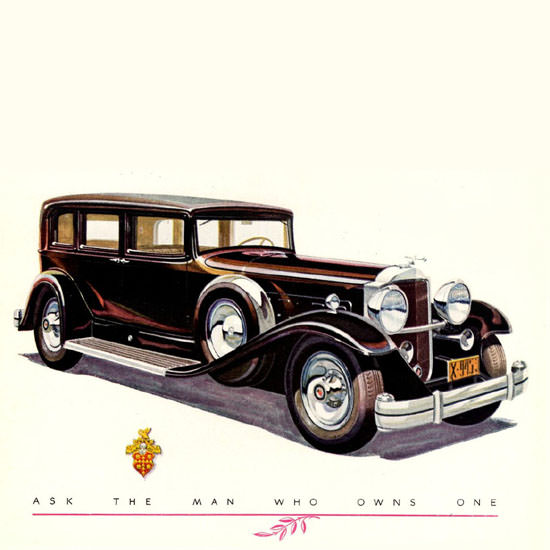 Detail Of Packard Eight DeLuxe Sedan Limousine 1931 | Best of Vintage Ad Art 1891-1970