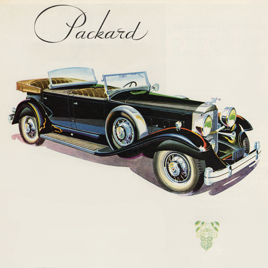 Detail Of Packard Eight DeLuxe Sport Phaeton 1931 | Best of Vintage Ad Art 1891-1970