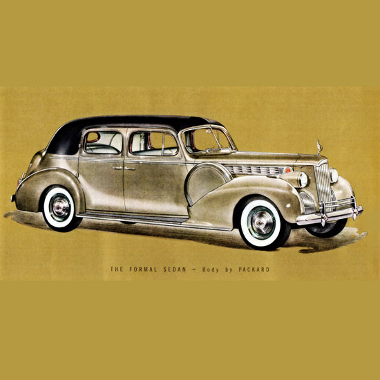 Detail Of Packard One Eighty Formal Sedan 1940 B | Best of Vintage Ad Art 1891-1970