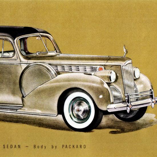 Detail Of Packard One Eighty Formal Sedan 1940 | Best of Vintage Ad Art 1891-1970