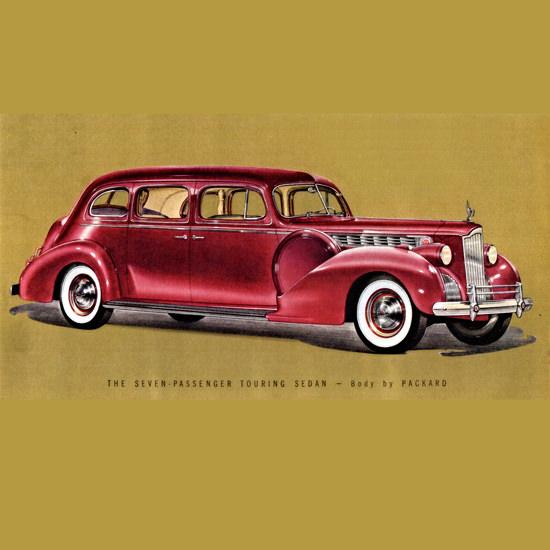 Detail Of Packard One Eighty Touring Sedan 1940 B | Best of Vintage Ad Art 1891-1970