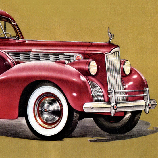 Detail Of Packard One Eighty Touring Sedan 1940 | Best of 1940s Ad and Cover Art