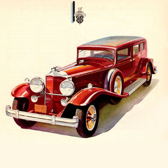 Detail Of Packard Sedan Limousine 1931 | Best of Vintage Ad Art 1891-1970