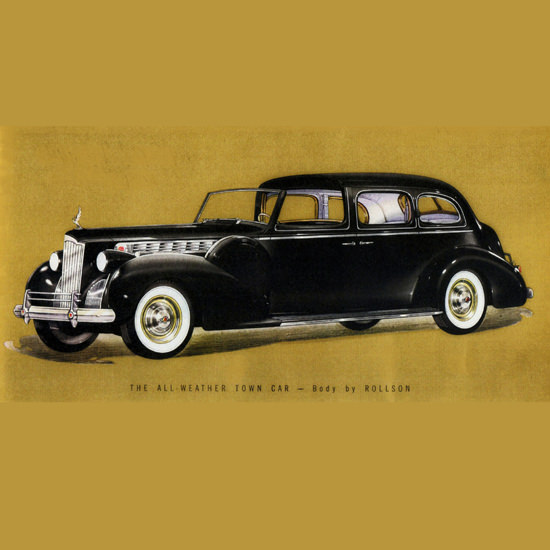 Detail Of Packard Super 8 All Weather Town Car Rollson 1940 B | Best of Vintage Ad Art 1891-1970