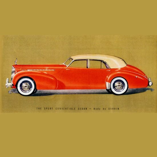 Detail Of Packard Super 8 One Eighty Convertible Darrin 1940 B | Best of Vintage Ad Art 1891-1970