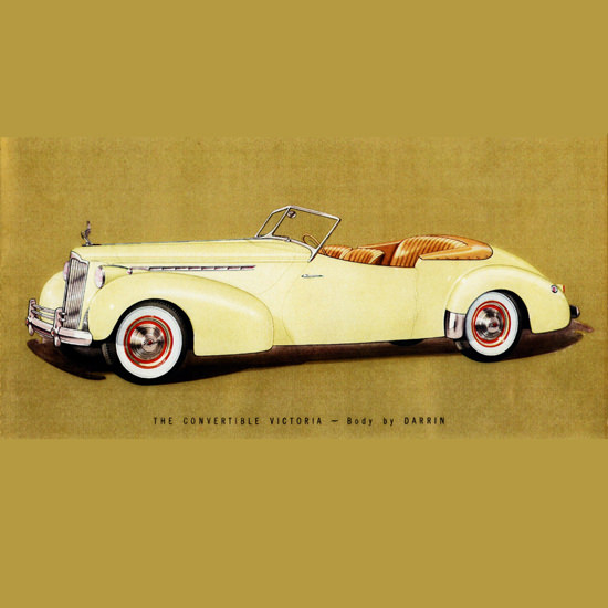 Detail Of Packard Super 8 One Eighty Convertible Victoria 1940 B | Best of Vintage Ad Art 1891-1970